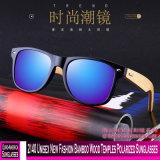 2140 Novo Unissexo Bambu Moda óculos polarizados templos de madeira