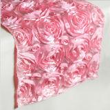 Rose fleurit le tissu de Tableau de turbine de Tableau de couvre-tapis d'isolation de Placemat