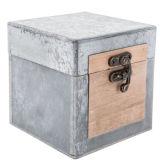 Rectángulo de madera inacabadas personalizado Caja de madera para el almacenamiento