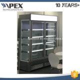 Refrigerador del aire abierto de la puerta doble de Commerical del supermercado
