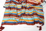 Sciarpa orizzontale del poliestere della spiaggia di estate di stampa (HT11)