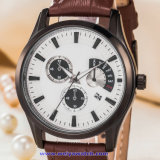 남자 (WY-17009B)를 위한 주문 로고 석영 남자의 손목시계 유리 스위스 손목