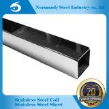 Tubo del cuadrado del acero inoxidable de ASTM 304 para la decoración