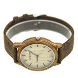 Relojes de madera de la promoción de los regalos del cuarzo de la cebra de encargo barata superventas de la insignia