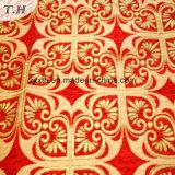 Paño de alto grado del sofá del telar jacquar rojo brillante 2017 (FTH31615)