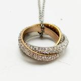 [ستينلسّ ستيل] مجوهرات نمو عقد نوع ذهب ماس مدلّاة