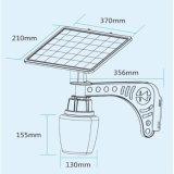 Lumière campante solaire d'aluminium du corps 7W de lampe d'alliage