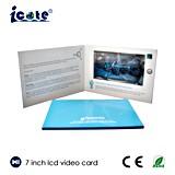Карточка LCD 7.0 дюймов видео- для представления компании с лоснистым