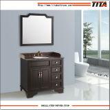 Vanità della stanza da bagno della costruzione di legno solido dell'oggetto d'antiquariato del commercio all'ingrosso del fornitore di vanità della stanza da bagno con la parte superiore di marmo
