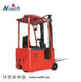 Carretilla elevadora eléctrica de 3 ruedas mini Truck 5t 1-1.3-4.5m de altura de la carretilla elevadora eléctrica de tres puntos