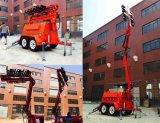 Schwerer heller Aufsatz-Generator-Servomotor 270L 10m des Mobile-LED hydraulischer beweglicher Beleuchtung-Aufsatz-Schlussteil-automatische Beine faltend