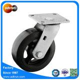 Для тяжелого режима работы поворотный резиновые колеса самоустанавливающиеся колеса .