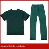 Médical professionnel frotte l'uniforme fonctionnant d'hôpital du coton (H09)