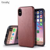 TPU macios magros híbridos de couro superiores suportam o caso da tampa protetora de telefone móvel da guarnição para Apple Iphonex