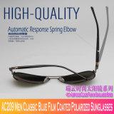 AC209 homens película azul clássico óculos polarizados revestido