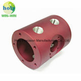 Maschinell bearbeiteter CNC zerteilt Matt-roten Block für 7075/6061/6063 Aluminium
