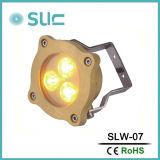 Il modo 3W impermeabilizza l'indicatore luminoso subacqueo d'ottone della piscina LED