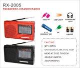 FM/Am/Sw1-6 de Draagbare Radio van 8 Banden met de Speler van de Muziek USB/TF/Rechargeable