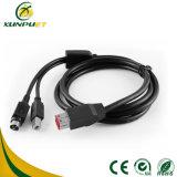 3 câbles usb de pouvoir de caractéristiques de mètres pour la caisse comptable