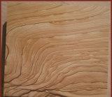 Fornecimento de elevada qualidade de madeira Amarelo Vien Laje de arenito para Villa azulejos de parede