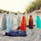 最も売れ行きの良い二重囲まれたステンレス鋼のびんのうねりの水差しの魔法瓶