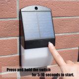 25 LED-Solarradar-Fühler-Licht-Garten-Wand-Lampen-Sicherheits-im Freienbeleuchtung