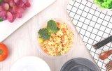 24 Unze-Wegwerfmittagessen-Kasten-transparenter Riemen-Deckel-Mittagessen-Kasten, der Takeout frische Mittagessen-Kasten-runde Plastikfilterglocke packt