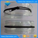 Impresa personalizada PVC negro semi claro de la bolsa de maquillaje