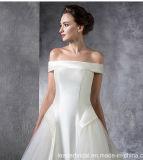 Trägerlose Brautauf lagerhochzeits-Kleid Lb1827 des ballkleid-reale Tulle-Satin-2018