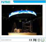 Voyant d'onde Ronde courbée en usine mur vidéo P2.5 flexible intérieur Module LED programmable