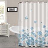 Cortina de ducha impreso de la flor de la frontera con nuevo diseño personalizado