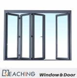 Alluminio grigio di colore che piega Windows e portello con il vetro del doppio della prova dell'acqua