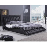 Re moderno Size Leisure Leather Bed nello stile europeo