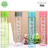 Frasco de moda garrafa de água de plástico de 400ml de suco de limão garrafa de água