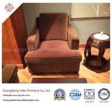 Мебель гостиницы с живущий креслом ткани Brown комнаты (YB-E-22)