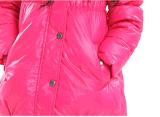 Девушки красивейшая зимы куртка вниз с поддельный наушником на клобуке