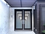 Двойная нанесённая дверь утюга обеспеченностью с окном