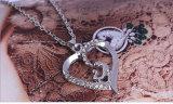 В форме сердечка моды ювелирных изделий с батарейками AAA кубический циркон серебро цепочка