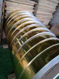 La superficie brillante de espejo pulido de Oro de la bobina de aluminio para la decoración