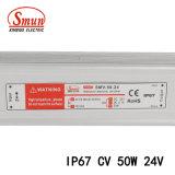 50W 24V 2A étanche IP67 SMPS Driver de LED de tension constante