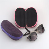 Cores portáteis da caixa 5 dos óculos de sol do protetor do suporte da caixa dura nova dos óculos de sol do tipo dos vidros do olho do amendoim do Zipper da letra