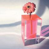 La vente directe d'usine Qcy Creative Magnifique vase d'acrylique transparente