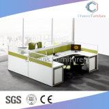 Divisorio facoltativo L stazione di lavoro della Tabella del personale di figura (CAS-W31411) dell'ufficio di colore di vendita calda