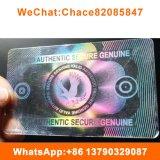 주문 투명한 PVC ID 카드 오바레이 홀로그램