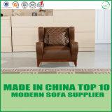 Софа Leater угла драпирования нового продукта мебели с деревянной рамкой