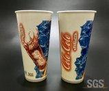 로고 관례에 의하여 인쇄되는 종이컵 찬 마시는 컵 광고