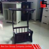Tavolino da salotto rotondo di legno, piccolo tavolino da salotto rotondo