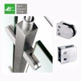 304 316ステンレス鋼Square Glass 台地の柵デザインのためのクランプ