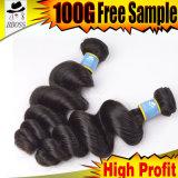 Produit de qualité supérieure des cheveux humains des cheveux brésiliens