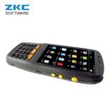 Scanner de code barres de l'androïde 5.1 du faisceau 4G 3G GM/M de quarte de Zkc PDA3503 Qualcomm avec la carte mémoire de carte SIM d'étalage